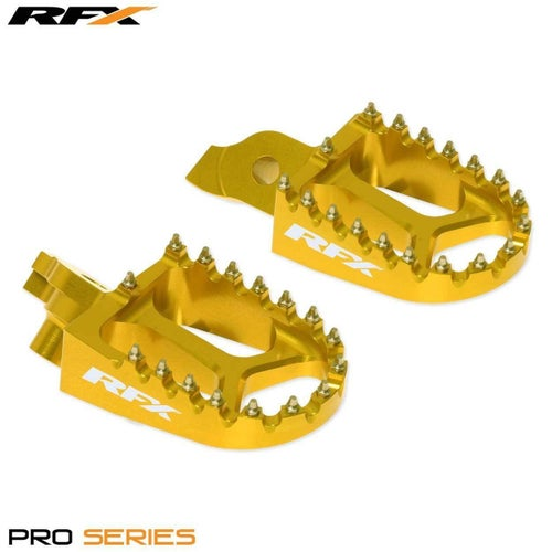 RFX Billet Anodised Wide Footpegs Yellow Suzuki RMZ450 05 Foot Peg - Yellow
