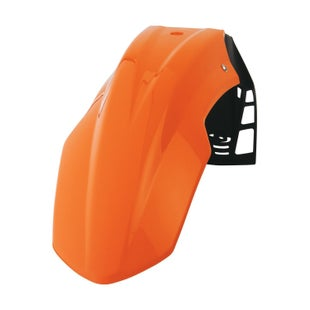 Polisport Plastics Front Fender Freeflow Orange Front Fender Plastic - Orange