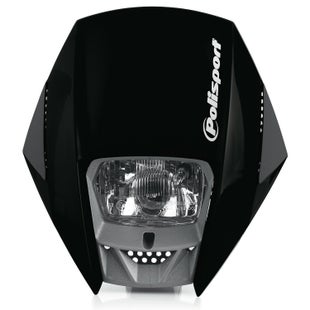 Polisport Plastics Motocross and Enduro Headlight Exura Black Front Light - Black