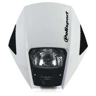 Polisport Plastics Motocross and Enduro Headlight Exura White Front Light - Exura White