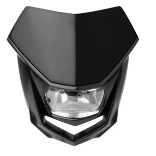 Polisport Plastics Motocross and Enduro Headlight Halo Black , Front Light - Black