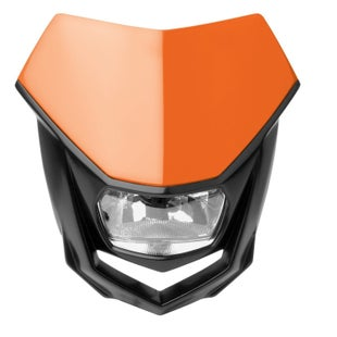 Polisport Plastics Motocross and Enduro Headlight Halo Orange KTM Front Light - Orange