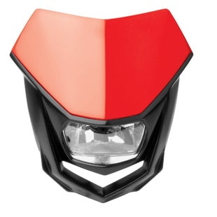 Polisport Plastics Motocross and Enduro Headlight Halo Red CR04 Front Light - Red