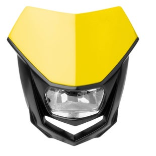 Polisport Plastics Motocross and Enduro Headlight Halo Yellow Front Light - Yellow