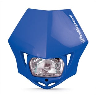 Polisport Plastics Motocross and Enduro Headlight MMX Blue 98 Front Light - Blue