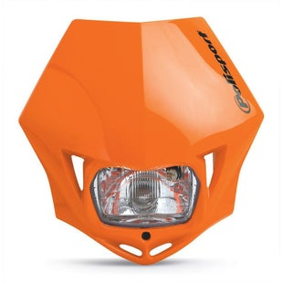 Polisport Plastics Motocross and Enduro Headlight MMX Orange Front Light - Orange