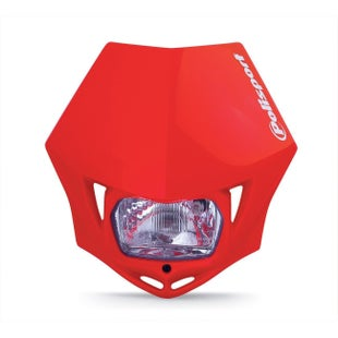 Polisport Plastics Motocross and Enduro Headlight MMX Red 04 Front Light - Red