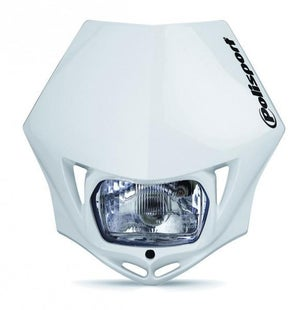 Polisport Plastics Motocross and Enduro Headlight MMX White Front Light - White
