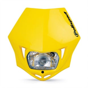 Polisport Plastics Motocross and Enduro Headlight MMX Yellow RM Front Light - Yellow