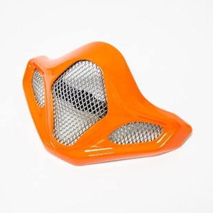 Arai Spare Chinbar EX Vent Grill MX Helmet Accessory - V Scratch Orange