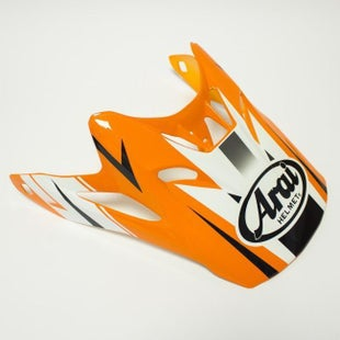 Arai Spare Peak MXV Tip Orange Helmet Peak - PEAK ONLY
