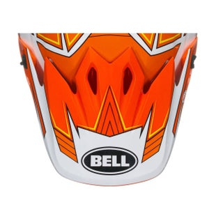 Bell 9 Adventure Peak MX Helmvizier - 9 Peak Blockade Orange