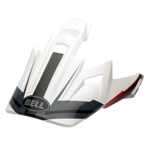 Bell 9 Adventure Peak MX Helmvizier - Adventure Barricade White
