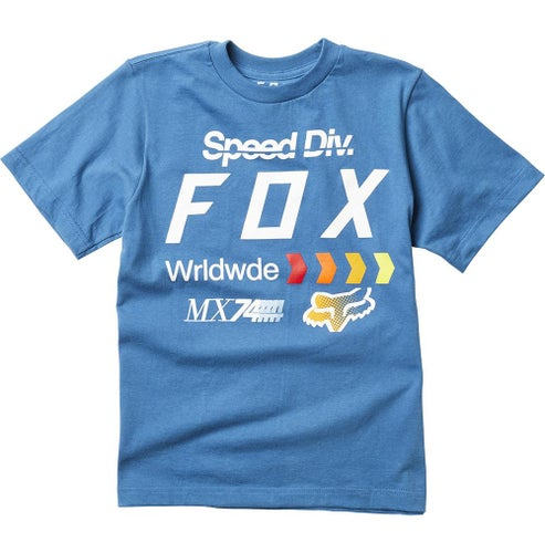 Fox Racing Youth Murc Short Sleeve T-Shirt - Dust Blue