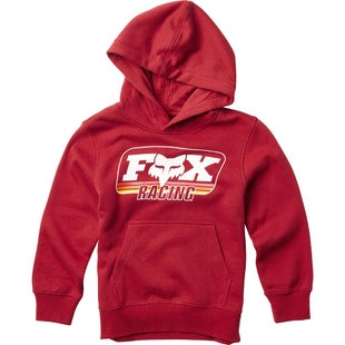 Fox Racing Youth Throwback Pullover Hoody - Red