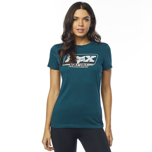 Fox Racing Retro Fox Crew Womens Short Sleeve T-Shirt - Jade
