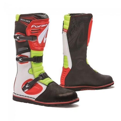 Forma BOOT BOULDER TRIALS WHITE RED FLO Trials Boots - White Red Green