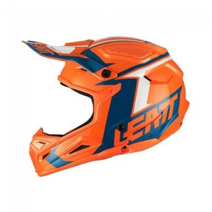 Leatt HELMET YOUTH GPX 45 V22 ORANGE DENIM Boys Helmet Accessory - ORANGE DENIM