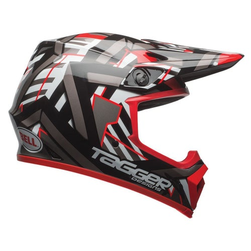 Bell MX-9 MIPS Motocross Helmet Motocross Helmet - Tagger Double Trouble Black / Red