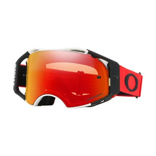 Oakley AirbrakeRed White Motocross Goggles - Prizm Torch Iridium Lens