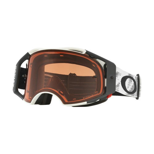 Masque MX Oakley Airbrake Matte White Speed - Prizm Bronze Lens