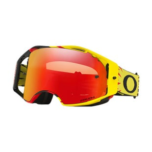 Oakley AirbrakeHigh Voltage Red Yellow Motocross Goggles - Prizm Torch Iridium Lens