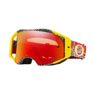 Oakley AirbrakeDazzle Dyno Red Yellow Motocross Goggles - Prizm Torch Iridium Lens
