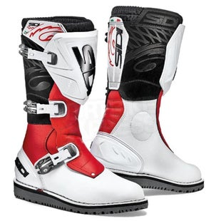 Sidi Trial Zero 1 Motocross Boots - White Red