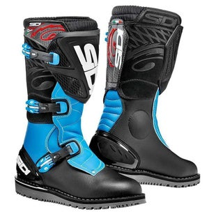 Sidi Trial Zero 1 Motocross Boots - Black Light blue