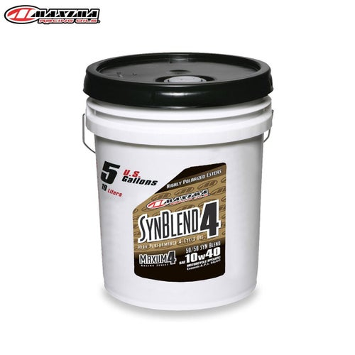 Engine Oil Maxima 4T Syn Blend 4 Ester Synthetic SAE 10w40 19 Litre - T Syn Blend 4 Ester Synthetic (SAE 10w40) 19 Litre