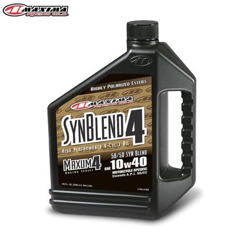 Engine Oil Maxima 4T Syn Blend 4 Ester Synthetic SAE 10w40 365 Litre - T Syn Blend 4 Ester Synthetic (SAE 10w40) 3.65 Litre