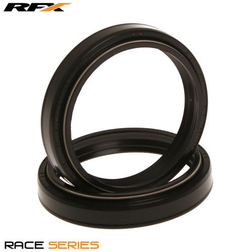 RFX Race Series Fork Seal Kit 43x55x105 12 Type TCL Suzuki RM12 Fork And Dust Seal Kit - Black