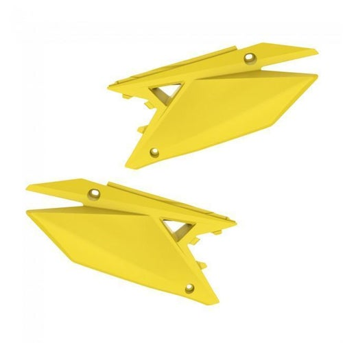 Polisport Plastics Side Panel Suzuki RMZ450Yellow Side Panel Plastic - ide Panel Suzuki RMZ450Yellow