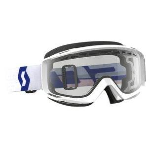 Scott Sports Split OTGEnduro Goggles Motocross Goggles - White ~ Clear Lens