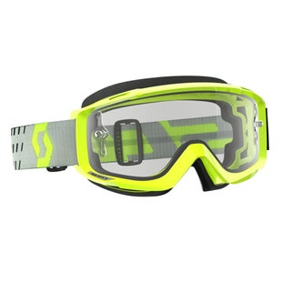 Scott Sports Split OTG Motocross Goggles - Flou Yellow ~ Clear Lens