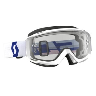 Scott Sports Split OTG Motocross Goggles - White ~ Clear Lens