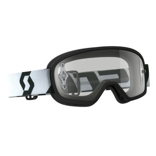 Scott Sports Buzz Pro YOUTH Boys Motocross Goggles - Black ~ Clear Lens