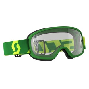 Scott Sports Buzz Pro YOUTH Motocross Goggles - Green ~ Clear Lens