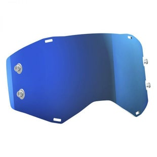 Scott Sports Prospect Replacement Goggle TearOff Lens Motocross Goggle Lense - Electric Blue Chrome