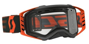 Scott Sports Prospect Enduro Goggles Vented Lens Motocross Goggles - Black Orange
