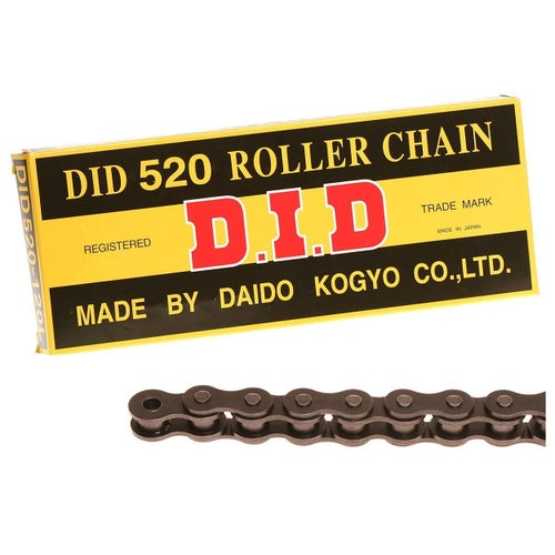 DID 520 x 120 RJ Heavy Duty Black MX Chain - Black