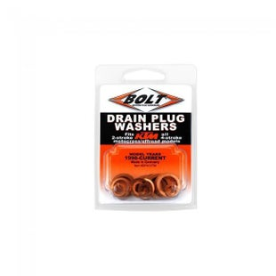 Bolt Hardware Drain Plug Washer Assortment KTM Husqvarna SX SXF EXC EXCF 50 Oil Drain Washer - Black