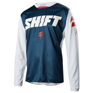 Shift Whit3 Label Ninety Seven Motocross Jerseys - Blue and White