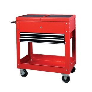 Dirtbikebitz Motocross Workshop Mobile Work Station on wheels Tool Box - Red