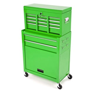 Dirtbikebitz Motocross Workshop Tool Chest and Cabinet on Wheels Tool Box - Green
