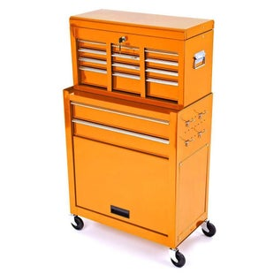 Dirtbikebitz Motocross Workshop Tool Chest and Cabinet on Wheels Tool Box - Orange
