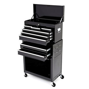 Dirtbikebitz Motocross Workshop Tool Chest and Cabinet on Wheels Tool Box - Black