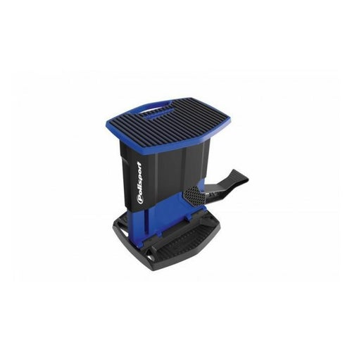 Polisport Plastics Foldable Pit Lift Bike Stand Lift Stand - Black Blue