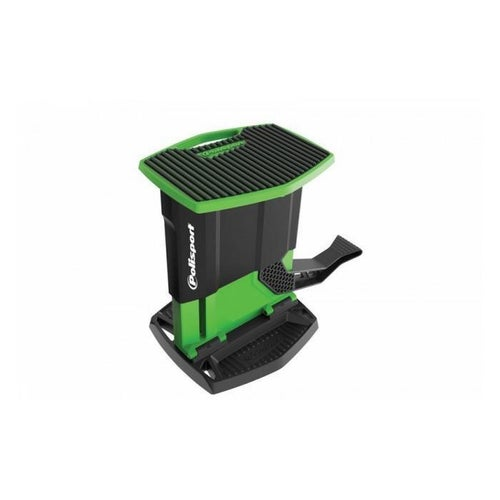 Polisport Plastics Foldable Pit Lift Bike Stand Lift Stand - Black Green