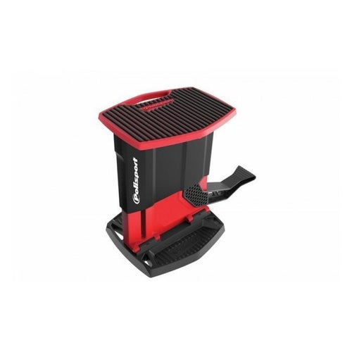 Polisport Plastics Foldable Pit Lift Bike Stand Lift Stand - Black Red